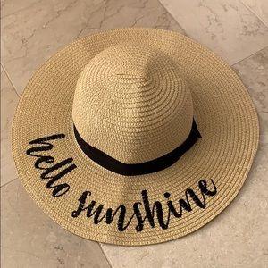 """""""hello sunshine"""" straw hat"""
